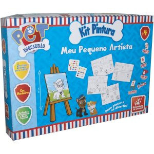Brinquedo Para Colorir Esquadrao Pet Kit C/04 Telas Brinc. De Crianca