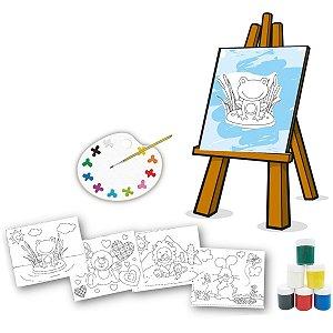 Brinquedo Para Colorir Pequeno Artista C/04 Telas Brinc. De Crianca