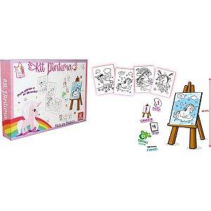 Brinquedo Para Colorir Unicornios Kit C/04 Telas Brinc. De Crianca