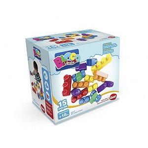Brinquedo Para Montar Box Alegre 15pcs Dismat
