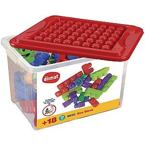 Brinquedo Para Montar Box Block C/19 Pecas Dismat