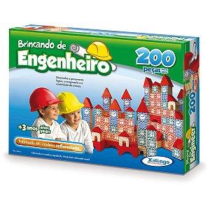 Brinquedo Para Montar Brincando De Engenheiro 200pc. Xalingo