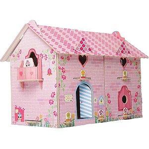 Brinquedo Para Montar Casa Divertida Doll Madei. 65p Brinc. De Crianca