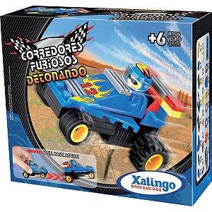 Brinquedo Para Montar Detonando C/ Friccao 30 Pecas Xalingo
