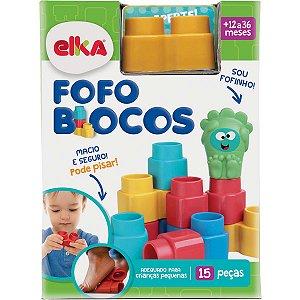 Brinquedo Para Montar Fofo Blocos 15 Pecas Elka