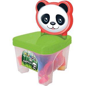 Brinquedo Para Montar Kidverte Panda C/28 Blocos Big Star