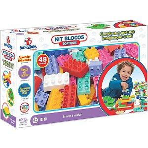 Brinquedo Para Montar Kit Blocos 48pcs Sortidos Merco Toys