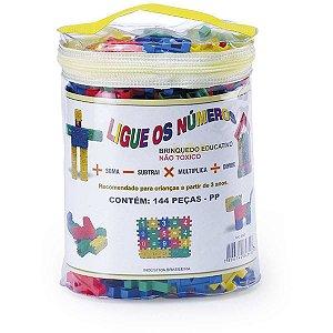 Brinquedo Para Montar Ligue Numeros 144 Pecas Monte Libano