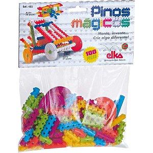 Brinquedo Para Montar Pinos Magicos 100 Pecas Elka