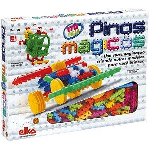 Brinquedo Para Montar Pinos Magicos 170 Pecas Elka