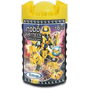 Brinquedo Para Montar Robo Guerreiro Yellow Armor 57 Xalingo