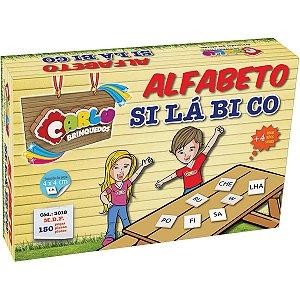 Brinquedo Pedagógico Madeira Alfabeto Silabico 150 Pecas Carlu