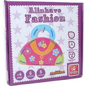 Brinquedo Pedagógico Madeira Alinhavo Fashion Brinc. De Crianca