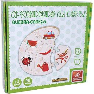 Brinquedo Pedagógico Madeira Aprendendo As Cores 48 Pecas Brinc. De Crianca