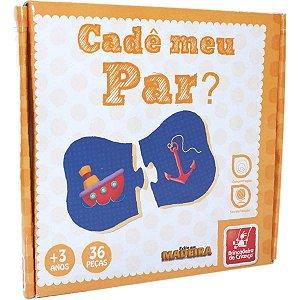 Brinquedo Pedagógico Madeira Cade Meu Par 36 Peã‡As Brinc. De Crianca