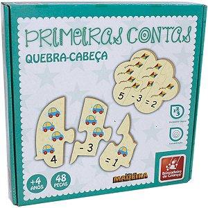Brinquedo Pedagógico Madeira Primeiras Contas 48 Pcs Brinc. De Crianca