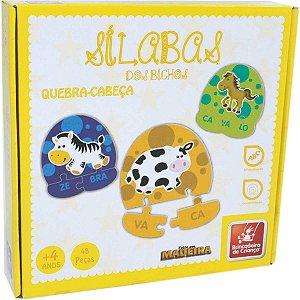 Brinquedo Pedagógico Madeira Silabas 48 Pecas Brinc. De Crianca