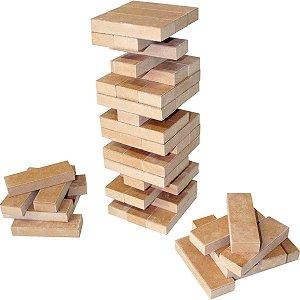 Brinquedo Pedagógico Madeira Torre Legal 54pecas Carlu