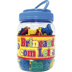 Brinquedo Pedagógico Brincando C/ As Letras 173pcs Pais E Filhos