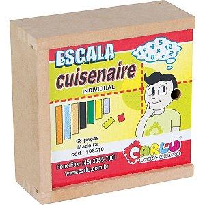 Brinquedo Pedagógico Escala Cuisenaire Indiv.68pcs Carlu