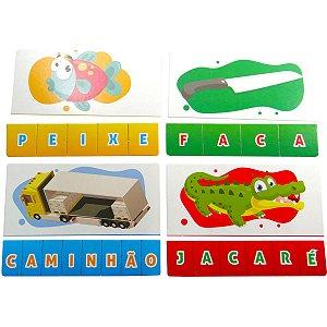 Brinquedo Pedagógico Silabas 28 Pecas Coluna