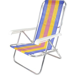 Cadeira P/Piscina/Praia Reclinavel 8posiã‡Oes 65x54x87 Belfix