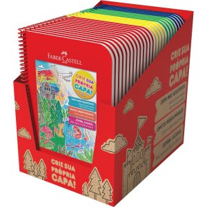 Caderno 01x1 Capa Dura 2020 Brincar E Aprender 96fls. Mix Faber-Castell