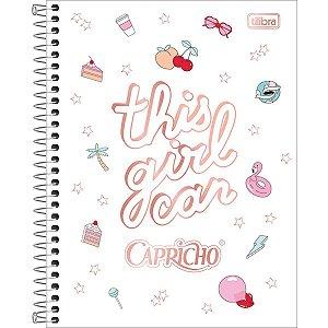 Caderno 01x1 Capa Dura 2020 Capricho Colegial 80fls. Tilibra