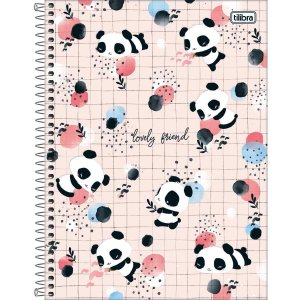 Caderno 01x1 Capa Dura 2020 Lovely Friend 80fls. Tilibra