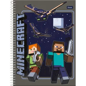 Caderno 01x1 Capa Dura 2020 Minecraft 96fls. Foroni