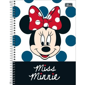 Caderno 01x1 Capa Dura 2020 Minnie Light 80fls. Tilibra
