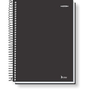 Caderno 01x1 Capa Dura 2020 Neutro Preto 96f Tamoio