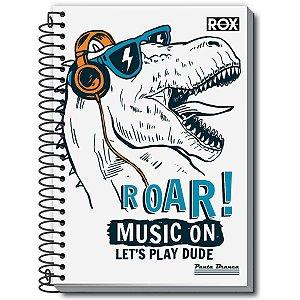 Caderno 01x1 Capa Dura 2020 Rox 96fls. Pauta Branca