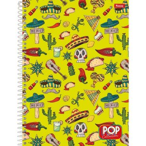 Caderno 01x1 Capa Dura 2021 Pop Collection 96 Folhas Foroni
