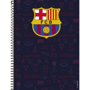 Caderno 10x1 Capa Dura 2020 Barcelona 200 Folhas Foroni