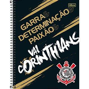 Caderno 10x1 Capa Dura 2020 Corinthians 160fls. Tilibra