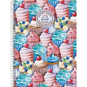 Caderno 10x1 Capa Dura 2020 Cupcake 200 Folhas Foroni