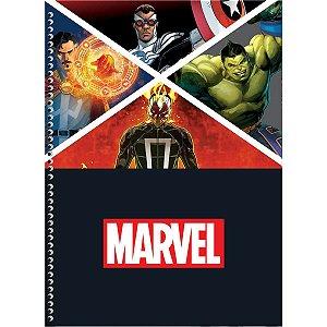 Caderno 10x1 Capa Dura 2020 Marvel Now 200fls Sao Domingos