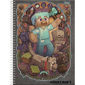 Caderno 10x1 Capa Dura 2020 Minecraft 200fls. Foroni