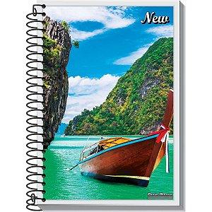 Caderno 10x1 Capa Dura 2020 New 200fls. Pauta Branca