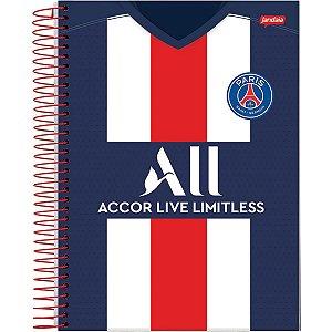 Caderno 10x1 Capa Dura 2020 Paris Saint-Germain 200fls. Jandaia
