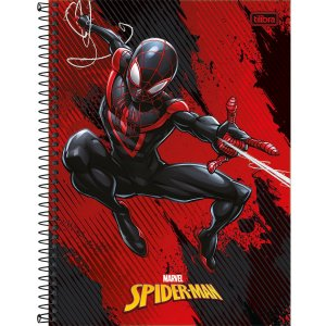 Caderno 10x1 Capa Dura 2020 Spider-Man Ligth 160fls. Tilibra