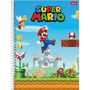 Caderno 10x1 Capa Dura 2020 Super Mario Bros 200fls. Foroni