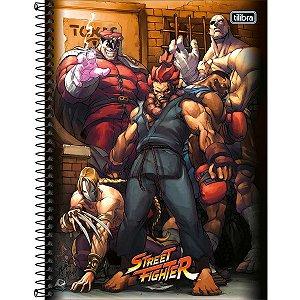 Caderno 10x1 Capa Dura Street Fighter 160fls. Tilibra