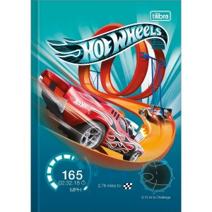 Caderno Brochura 1/4 Capa Dura Hot Wheels 80fls. Tilibra
