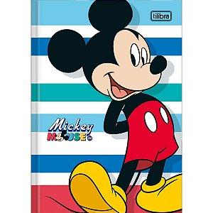 Caderno Brochura 1/4 Capa Dura Mickey 80fls. Tilibra