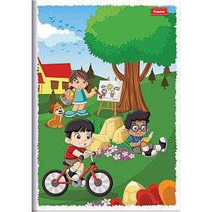 Caderno Brochura 1/4 Capa Infantil 96 Folhas Foroni