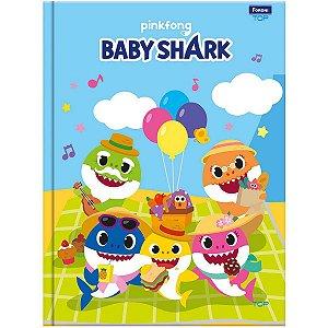 Caderno Brochurão Capa Dura Baby Shark 96fls. Foroni