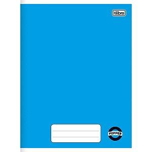 Caderno Brochurão Super Pepper 60 Folhas Azul/Vermelho Tilibra