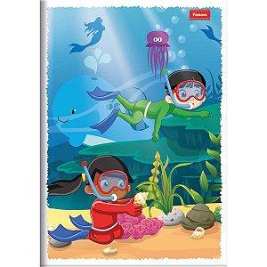Caderno Brochurão Capa Infantil 60 Folhas Foroni